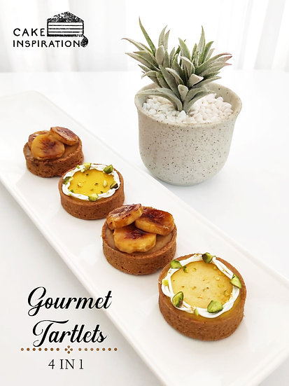 4 in 1 Gourmet Tartlets - Peanut butter Banana & Mango with Pistachio flavor