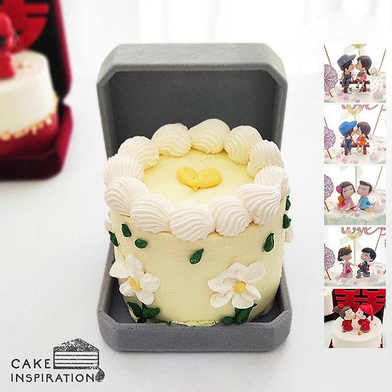 Yellow Daisy Jewel Box Bento Cake (JB05)