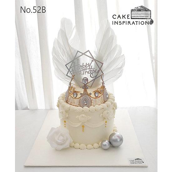 Tiara Crystal Wing Princess Topper Cake ( no.52B ) - 6inch
