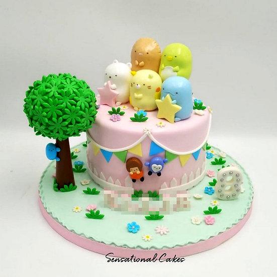Garden Bunting Animals Children 3D Figurine Customized Cake