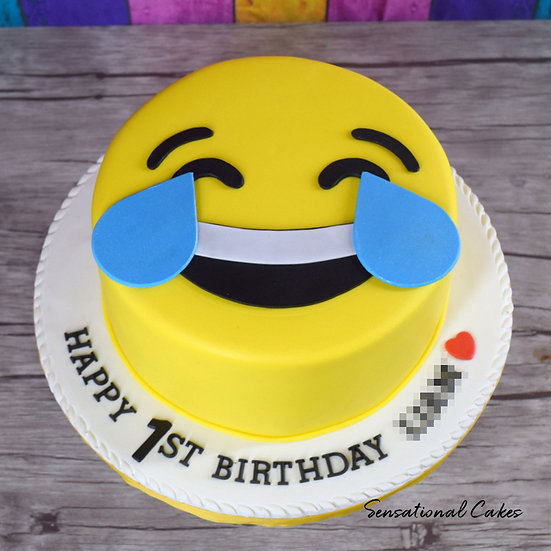 Emoji Children Theme 2D Design Customized Cake