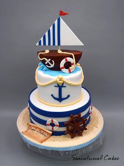 Sailor Children Theme 3D Figurine Customized Cake