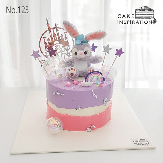 Happy Bunny Topper Cake ( no.123 ) - 6inch