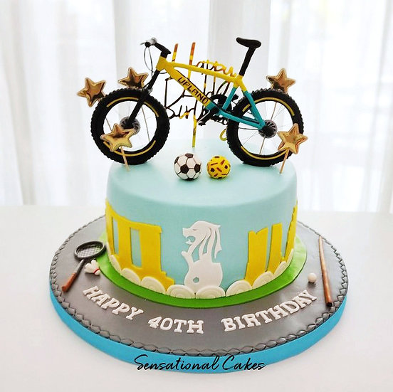 Singapore Biker Theme 3D Customized Cake