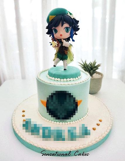 Anime Character Game Chibi Girl Children 3D Customized Cake
