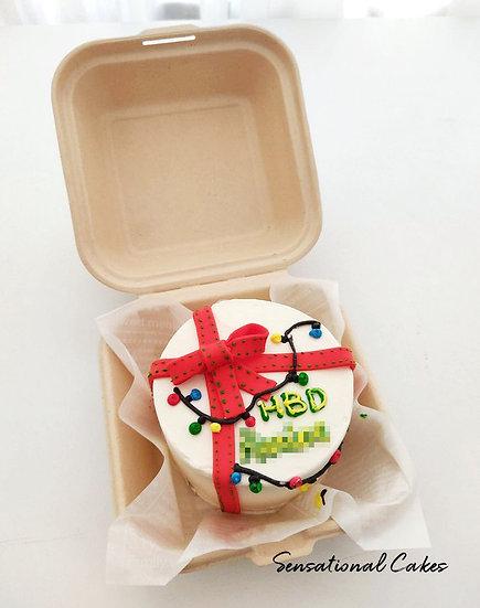 Lights & Gift Bento 2D Customized Mini Cake