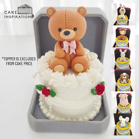 Victorian Rose Jewel Box Bento Cake