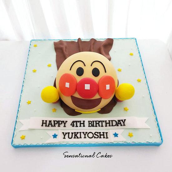 Anime Superhero Design Children 3D Figurine Customized Cake