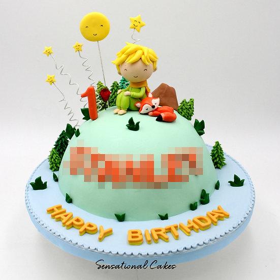Little Prince Children Theme 3D Figurine Customized Cake