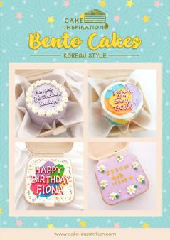 Korean Style Bento Cakes