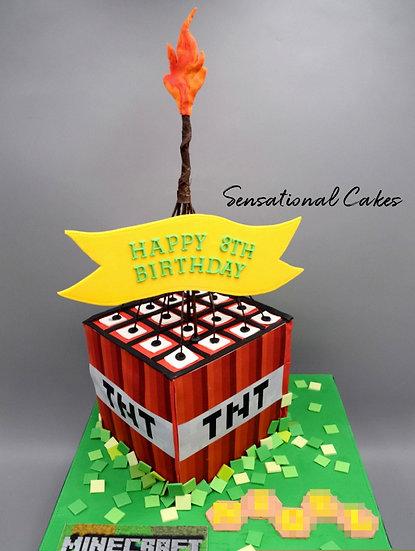 Craft Blocks Children Theme 3D Figurine Customized Cake