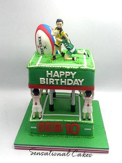 Soccer Football Children Theme Customized Cake