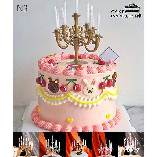 (N3) Cute Theme Victorian Style Cake - 6inch