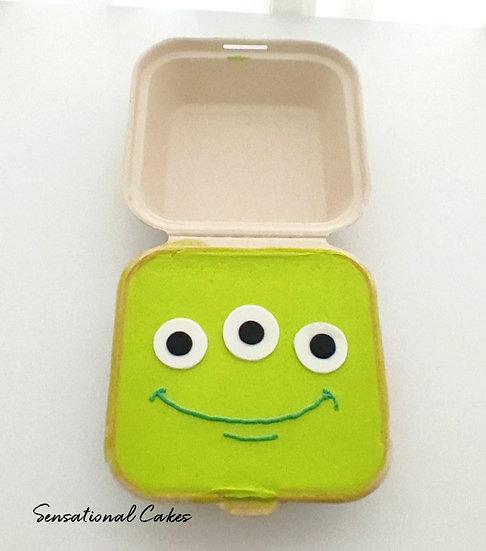 Green Alien Bento 2D Customized Mini Cake