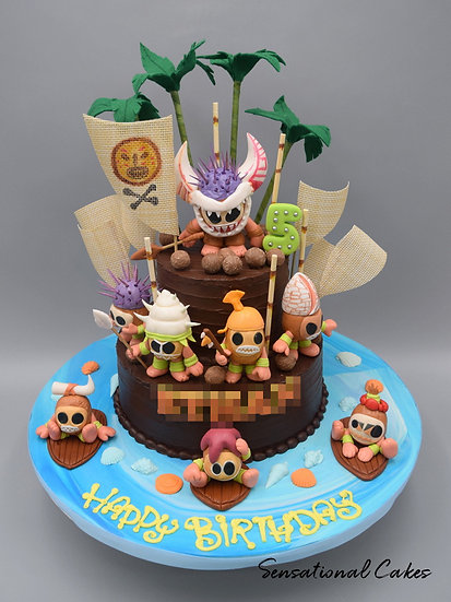 Tribal Tikki Children Theme 3D Figurine Customized Cake
