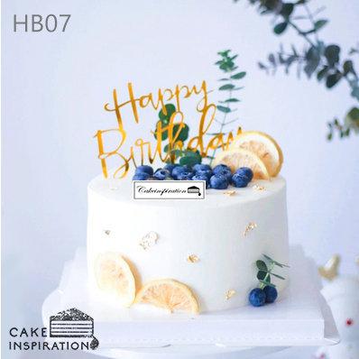 (HB07) Lemon Blueberry Garden Theme Cake - 6inch Freshcream