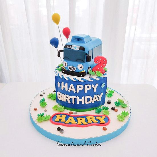 Cute Kiddie Bus , Boy Children 3D Customized Cake