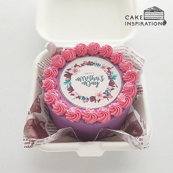 Mother's Day 2021 - Simple Purple Bento Cake