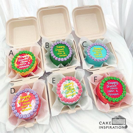 Bright Colored Round Bento Cake (R29)
