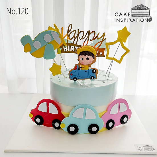 Traveler Boy Topper Cake ( no.120) - 6inch