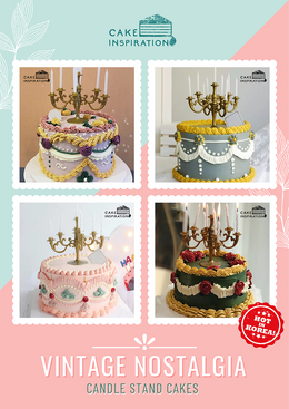 Vintage Candle Stand Cakes