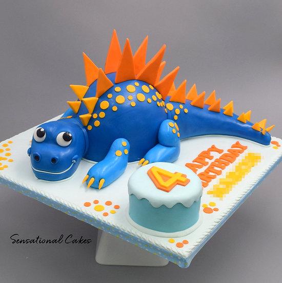Good Dinosaur Children Theme 3D Figurine Customized Cake