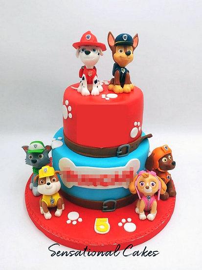 Dog Patrol Children Theme Customized Cake