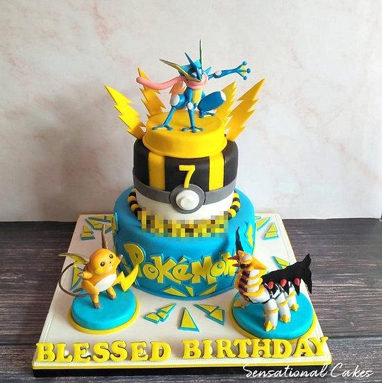 Pocket Monster Children Theme 3D Figurine Customized Cake