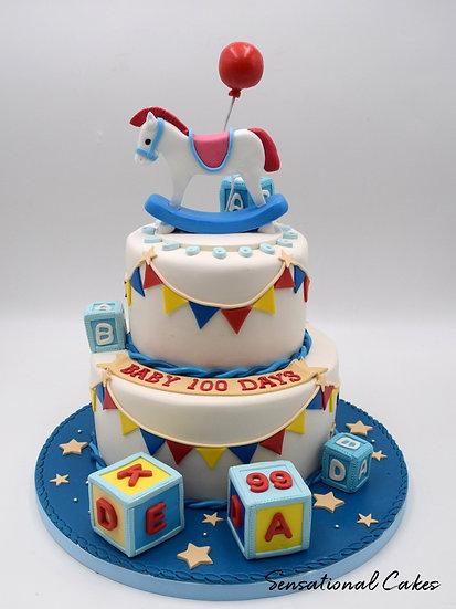 Baby Toys Children Theme 3D Figurine Customized Cake