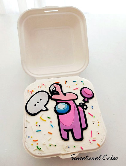 Imposter with Accessory Bento 2D Customized Mini Cake