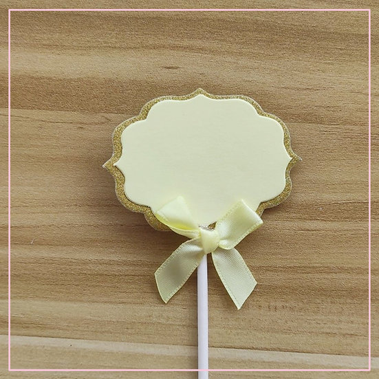 Cake tag - Blank Paper Tag Yellow
