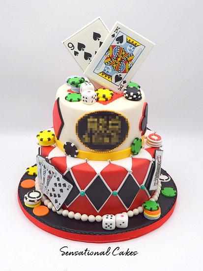Casino Man Theme 3D Figurine Customized Cake