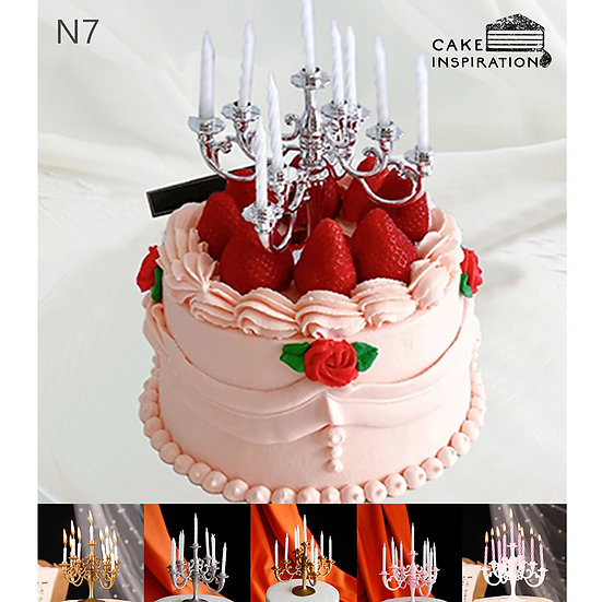 (N7) Strawberry Overload Victorian Style Cake - 6inch