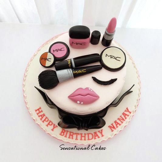 Luxury Make Up Set Woman Theme 3D Customized Cake