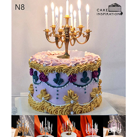 (N8) Colorful Classic Victorian Style Cake - 6inch