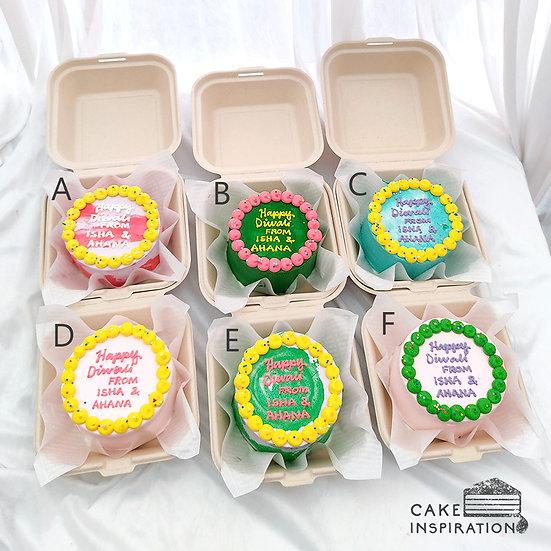 Bright Colored 2 Round Bento Cake (R30)