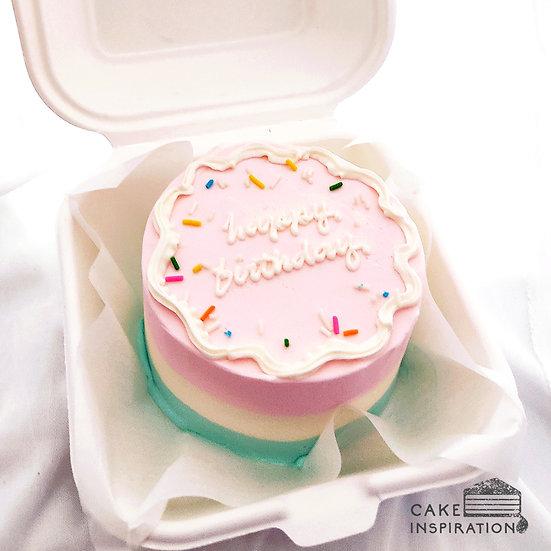 Pastel Swirl Round Bento Cake (R14)