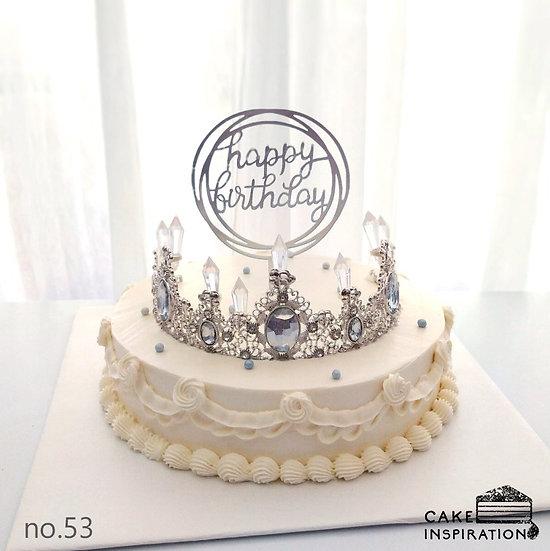 Princess Tiara Crystal Topper Cake ( no.53 )