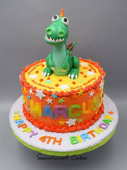 Dino Boy Children Theme 3D Figurine Customized Cake