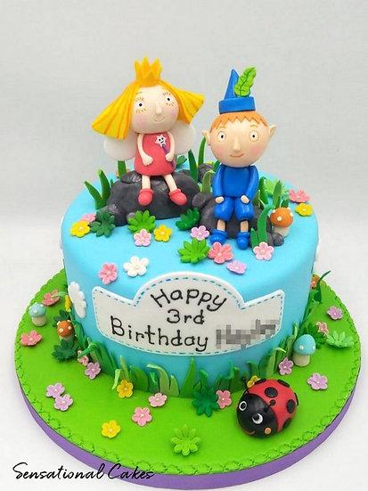 Fairy Boy & Girl Children Theme 3D Figurine Customized Cake