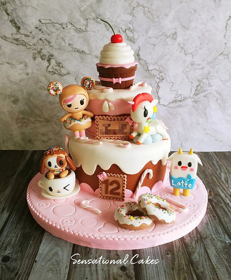 Pony & Friends In Sweetland Children Theme Customized Cake