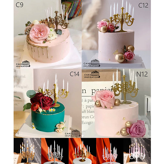 (C9,C12,C14 & N12) Floral Vintage Style Cake - 6inch