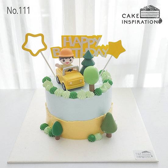 Adventurer Boy Topper Cake ( no.111) - 6inch