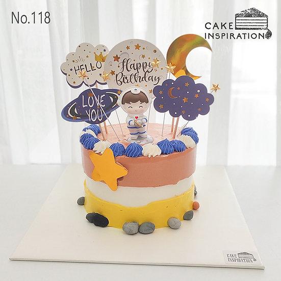 Space Explorer Boy Topper Cake ( no.118) - 6inch