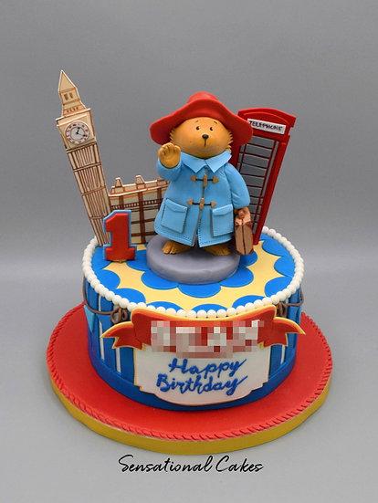 London Bear Children Theme 3D Figurine Customized Cake