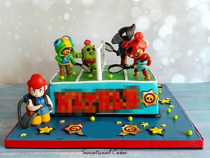 Online Game Children Theme 3D Figurine Customized Cake