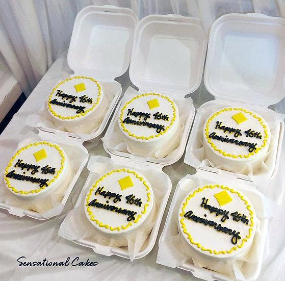 Corporate Design Bento 2D Customized Mini Cake