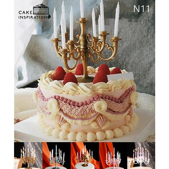(N11) Elegant Berry Victorian Style Cake - 6inch