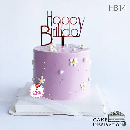 (HB14) Sweet Daisy Cake - 6inch
