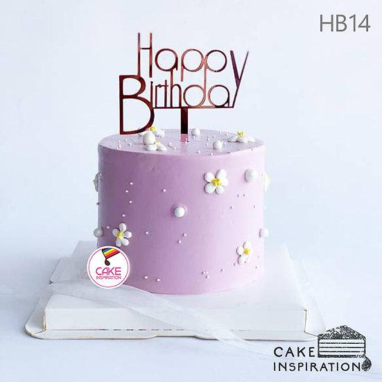 (HB14) Sweet Daisy Cake - 6inch Buttercream